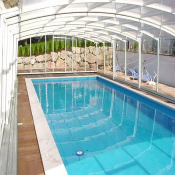 Outdoor Above Ground Swimming Pool Retractable Cover Roof