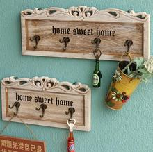 Shabby chic coloured unique design handmade home decorative wood wall hook