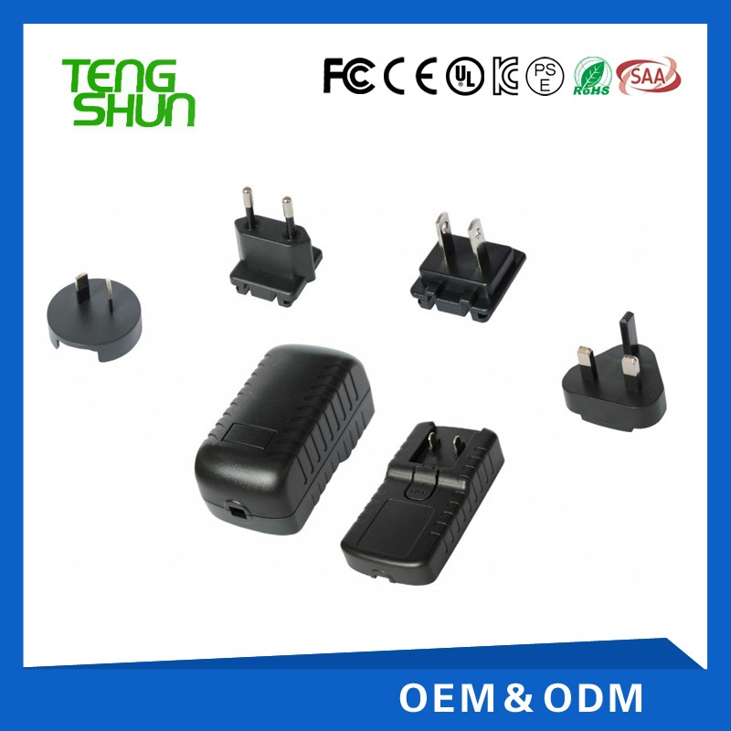 interchangeable plugs3.65v2a 7.3v1a 14.6v1a lifepo4 battery ul wall charger