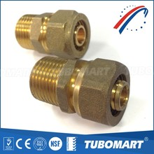 china supply brass male union for water supply joint connector