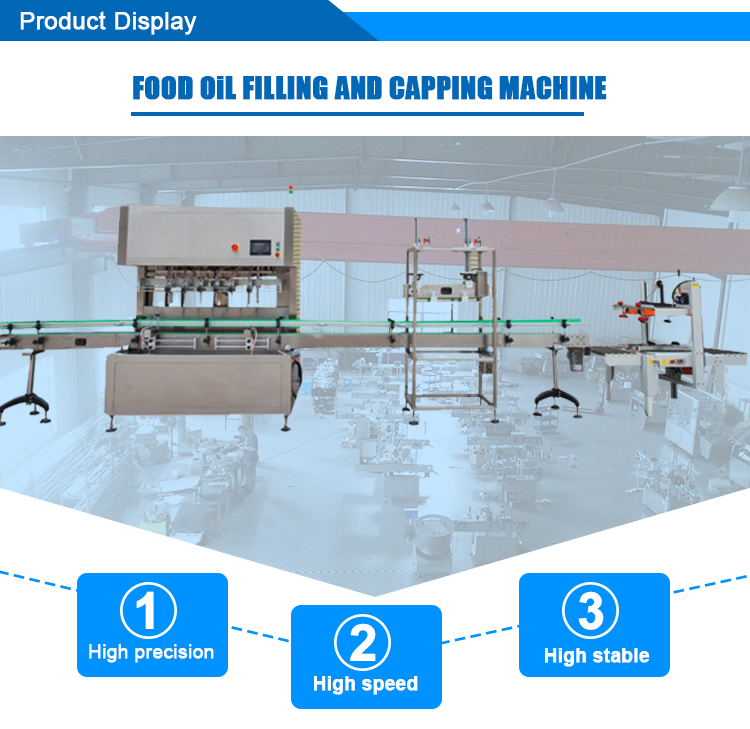 High Speed Automatic Food Oil Bottle Filling Machine