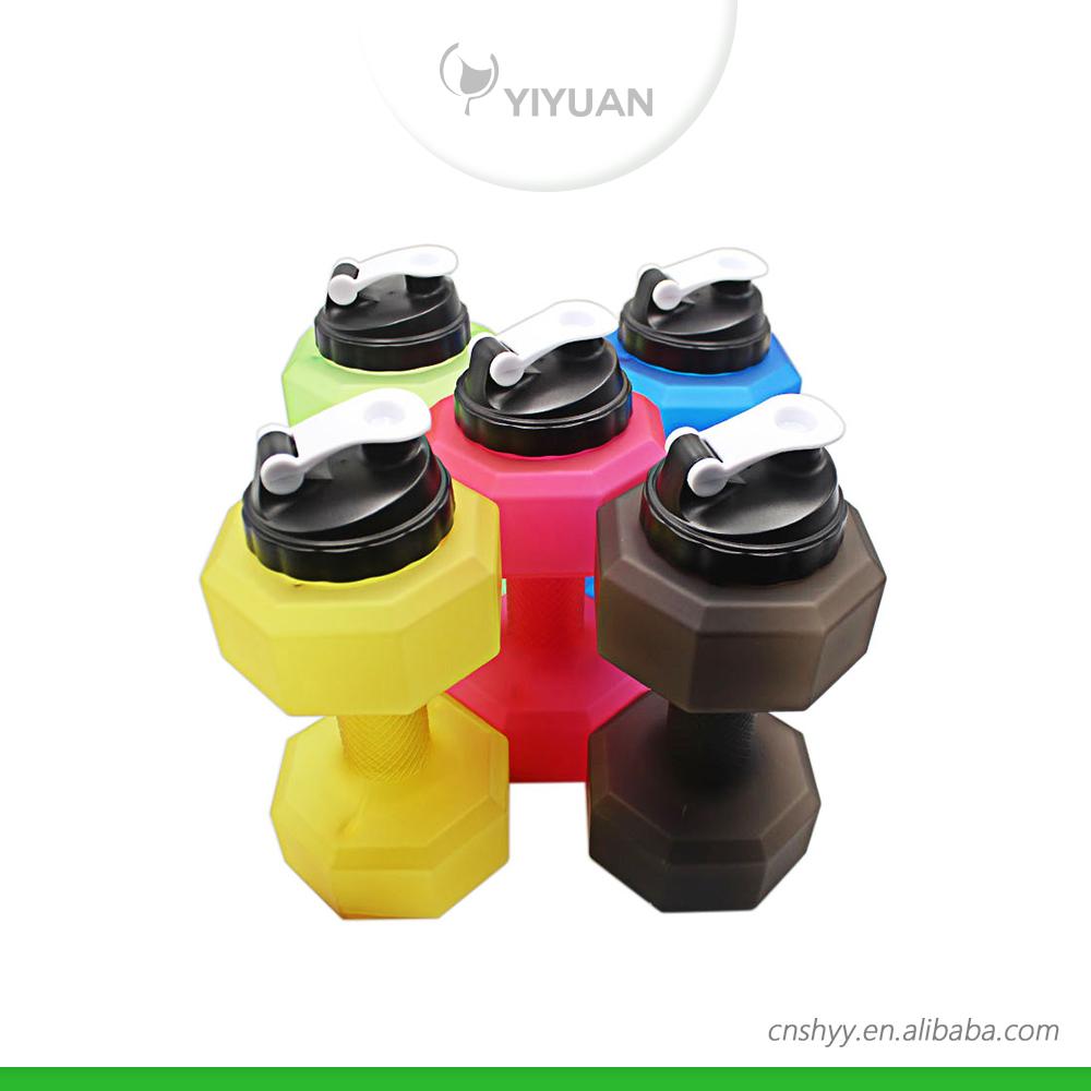2200ml Large Plastic Dumbbell Shape Sport Shaker Water
