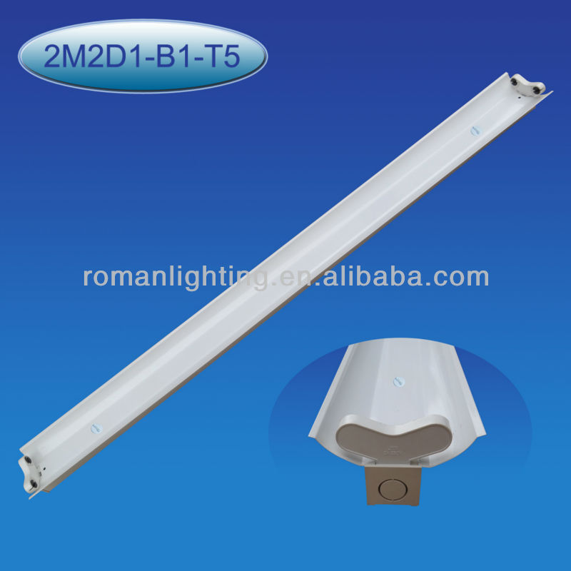 t5 double fluorescent lamp fixture with reflector 2*28W