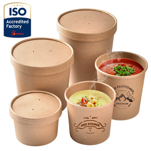 Paper soup cup / paper container for hot and sour soup