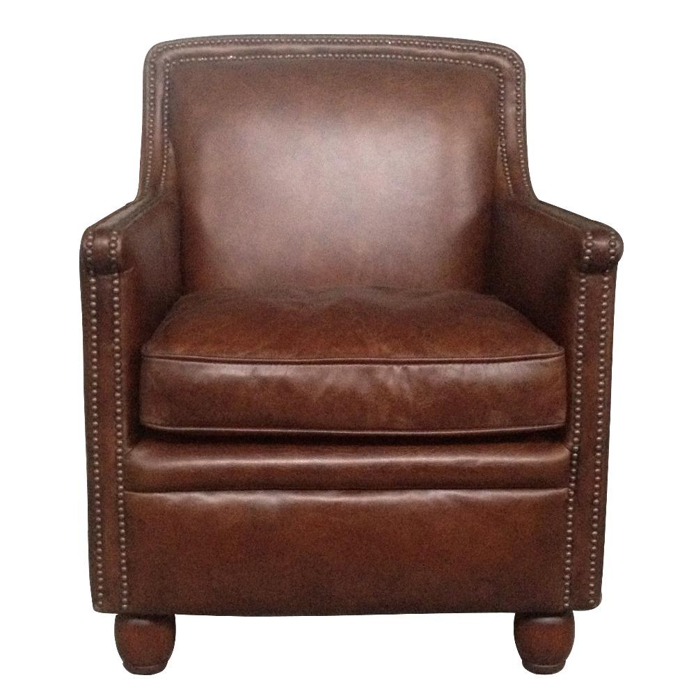 Distressed Brown Leather Vintage Armchair Club Chair - Buy ...