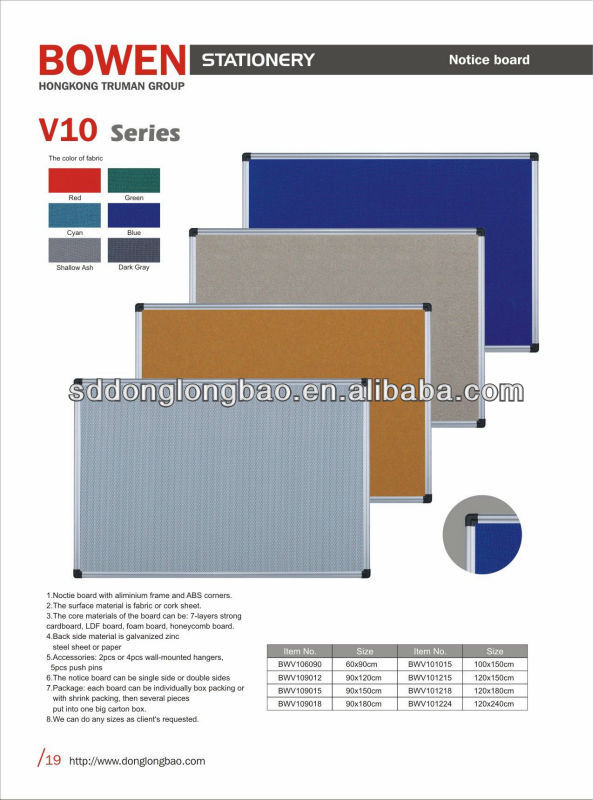 Weichen stift Bulletin board-designs bw-v10