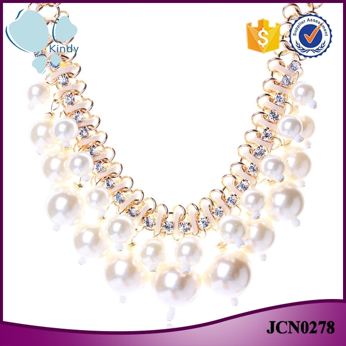 Yiwu wholesale imitation jewelry big pearl multilayer diffuser necklace
