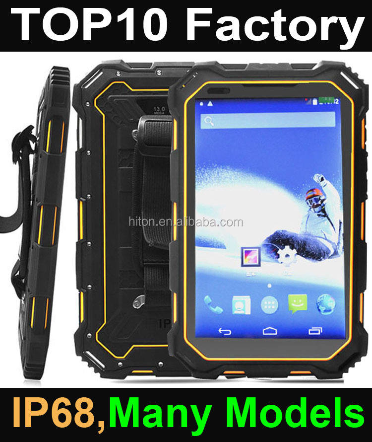 Highton 7 -10 inch waterproof rugged android tablet pc with NFC Fingerprint UHF RFID Barcode scanner rugged tablet pc computer