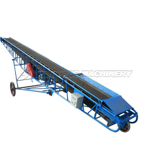 Baisheng cooling inclined small rubber conveyor belt system price