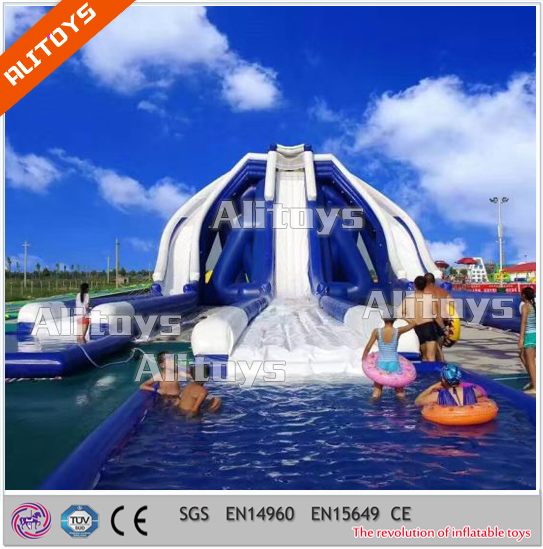 Inflatable Water Slide , Wet Slide Inflatable