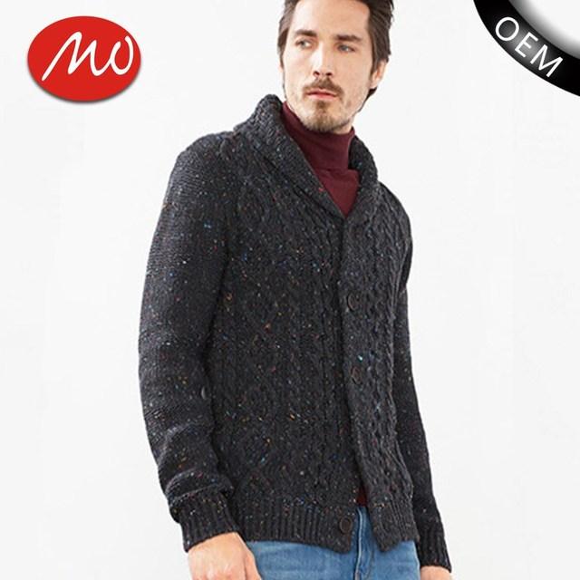 Promoción hombres cable suéter de punto, Compras online de ...
