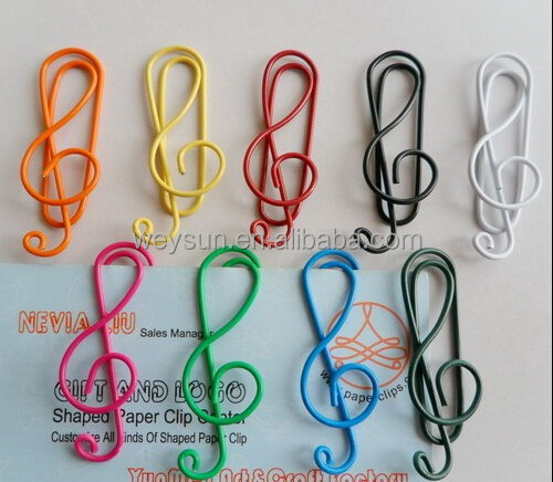 Music notation paperclip,creative bookmarks, music note Office paperclip
