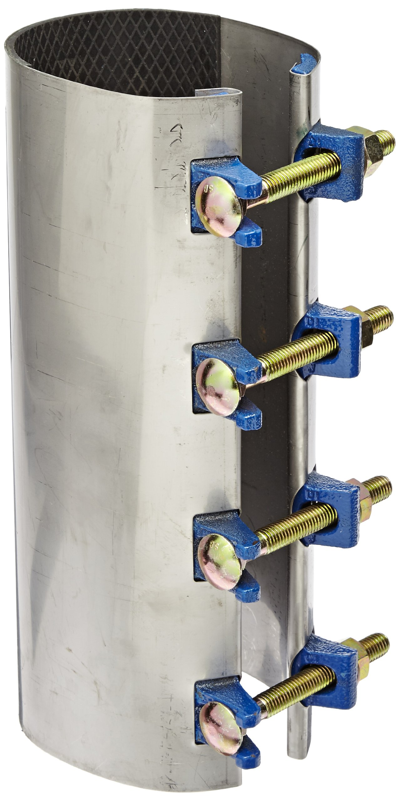 """Smith-Blair Stainless Steel Repair Clamp, Redi-Clamp, Carbon Steel Bolt, 4 Bolts, 12"""" Length, 4"""" Pipe Size"""