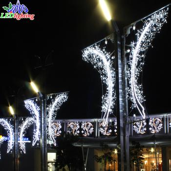 christmas street decoration light outdoor decorative pole mounted moitf waterproof lamppost motif hanging 2d motif lights - Christmas Decorations For Outside Lamp Post