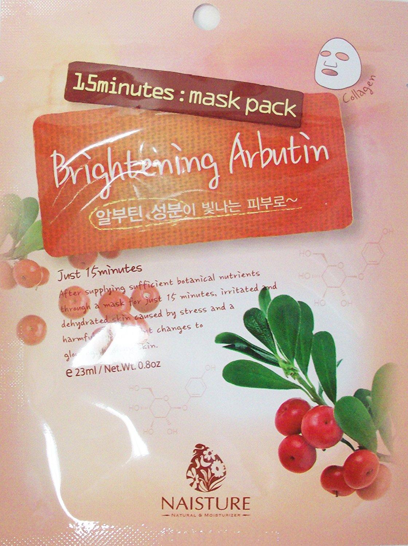 Naisture 15 Min. Collagen Essence Facial Mask Sheet Pack - Brightening Albutin 10pk (e 23ml)