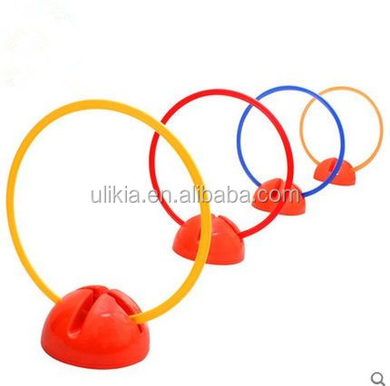 "16"" Multicolor Plastic speed agility Rings For Speed And Agility Training Games with holder"