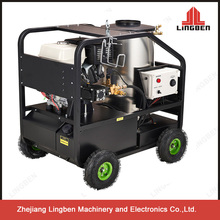 Hot Water High Pressure Washer 13Hp 3600PSI Four Wheels Honda Engine AR pump Hot Water Washer Cleaning Equipment LB-GH13