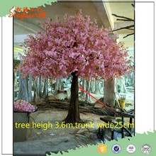 GJ20160724 3 meters light pink artificial trees cherry blossoms silk artificial Sakura Tree