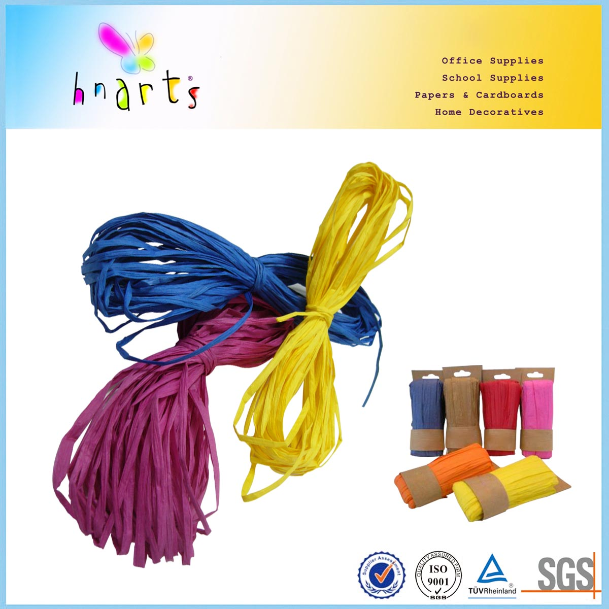 Assorted color paper string set manufacturer in china