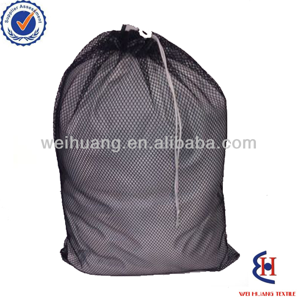 folding polyester mesh laundry bag