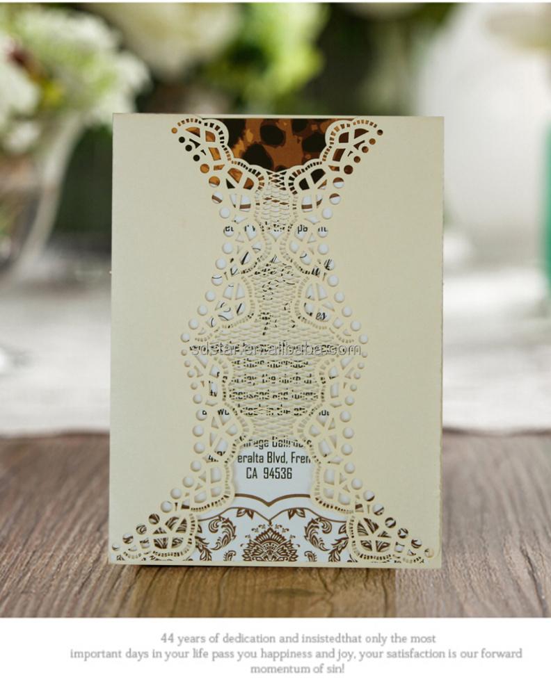 Royal Gold Lasergeschnittenen Hochzeit Einladungskarten; Fancy Goldenen  Blume Einladung Für Die Hochzeit; Elegante Leuchte