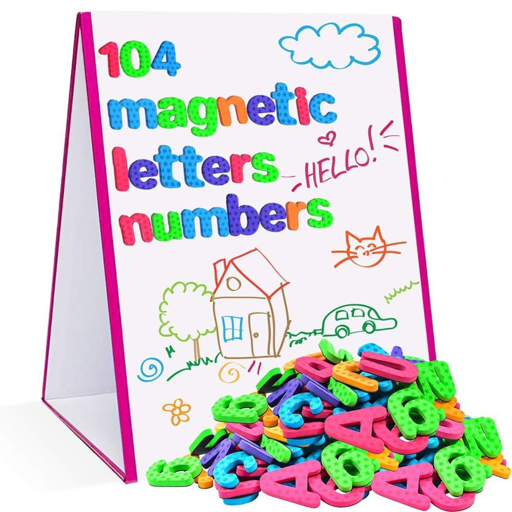 104pcs Large Magnetic Letters & Numbers Alphabet Magnets Kids Educational Toy For Learning