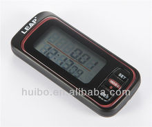 Portable silent 3D Sensor LCD Pedometer Step Run Calorie Counter w Memory Clock