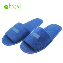 Hot sale wholesale slippers airline bule cotton terry towel man or woman disposable hotel slipper for radisson