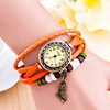 2019 Hot Fashion Women Casual Leather Weave Wrap Wrist OWL Watch Charm Bracelet Vintage Watches VW021