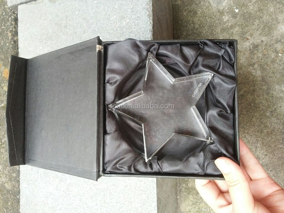 crystal star paper weight Age of the baby souvenirs