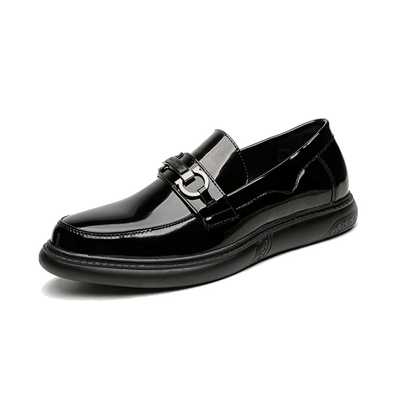 2018 Oxfords Shoes, Men's Slip-on Shoes Smooth PU Leather Upper Loafers Gentlemen Business Oxfords