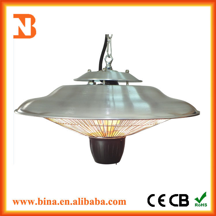 Decorative hanging electric gazebo patio heater