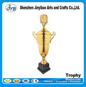 Custom design trophy plastic for school event cheap kickboxing trophy cup and medal
