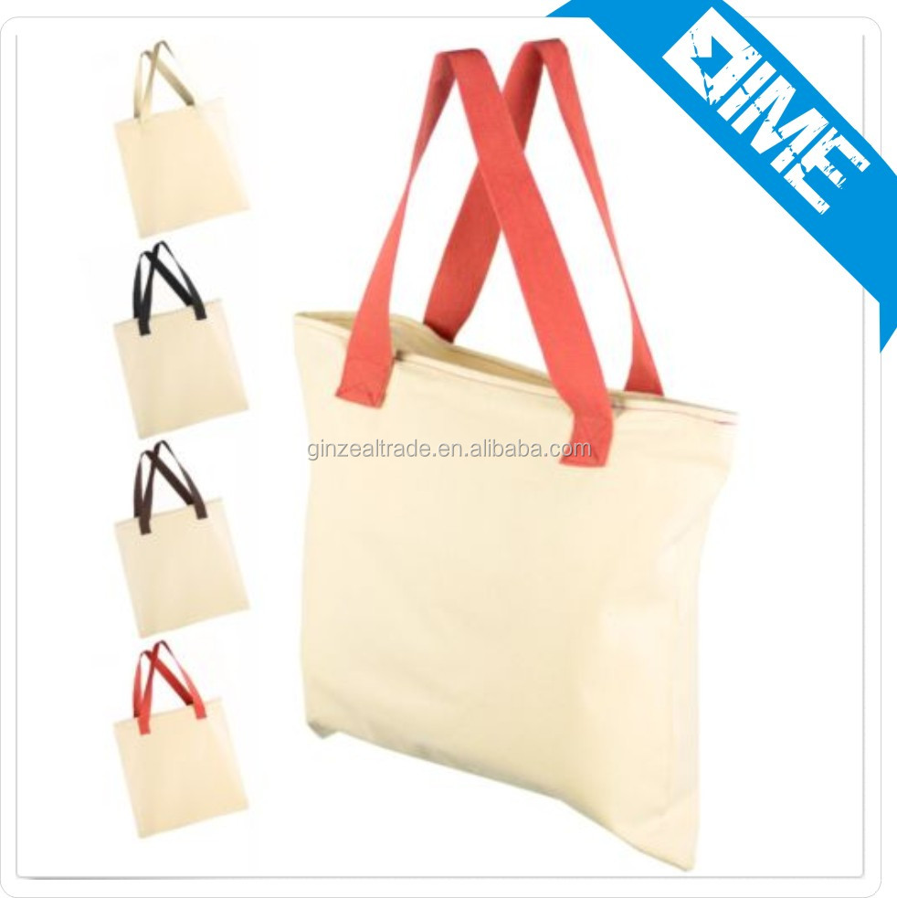 Nice packing custom white cotton cloth shopping bag cotton carry bag for daily using