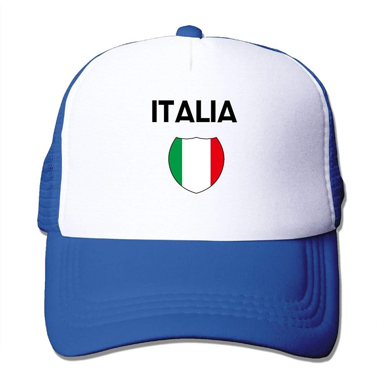 Get Quotations · Baseball Caps Italia Flag Mesh Caps Trucker Hat Adjustable  Hat 2a6e7f1d7