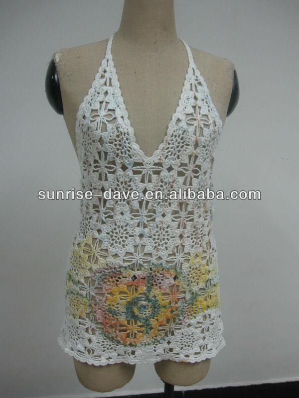 Flower Crochet Pattern Printed Vestp Buy Crochet Stylish Cotton