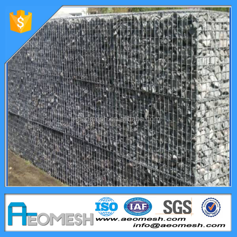 Galvanized gabion wire mesh box/ganion mesh decorative wire mesh boxes