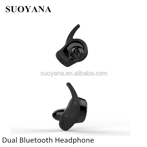 2017 Trend Product Dual Ear Tws Bluetooth Earphone Wireless Earbud With Rich bass