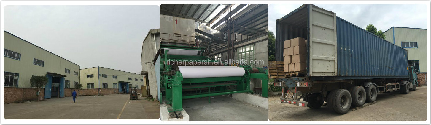 45 GSM White Kraft Paper Virgin Pulp Style and Mechanical Pulp Pulping Type