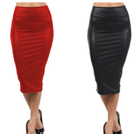 Latest design ladies long skirts woman fashion leather sexy wrap skirt