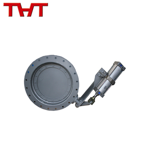pneumatic carbon steel vent butterfly valve