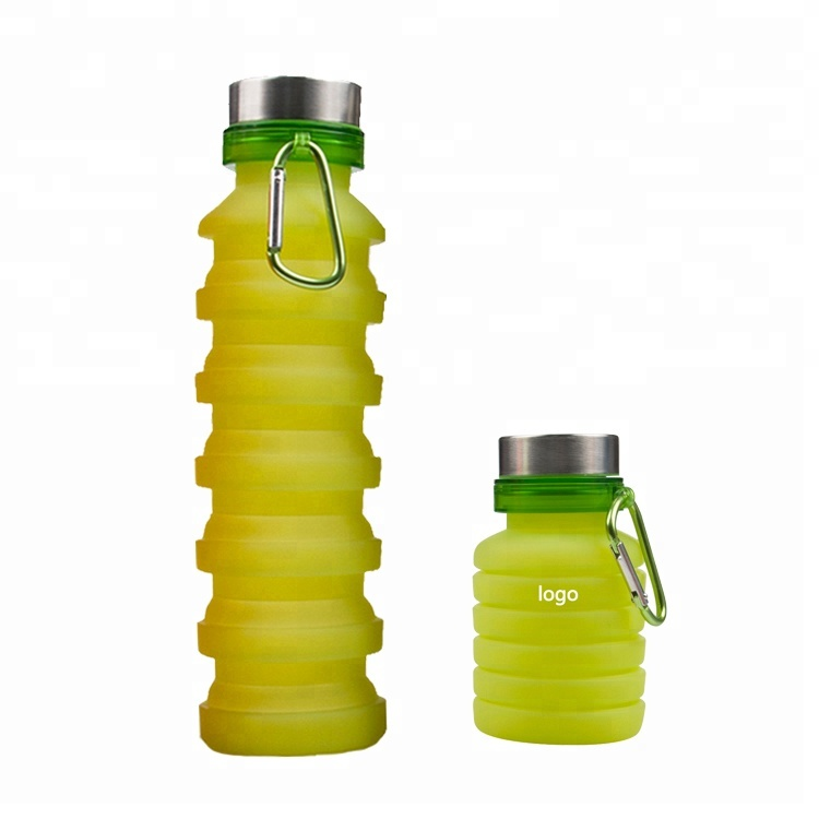 Alibaba.com / Outdoor Collapsible Bottle Sport Promotional Gift Custom Logo Printing Foldable Water Bottle