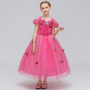 43ebda3b99928 Kids designer clothes Cinderella 10 years little girl gowns long sleeve  dresses with high quality BXHD03