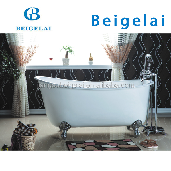 Swedish Slipper Roll Rim Cast Iron Claw Foot Bath Bathtub Of Bgl-70 ...