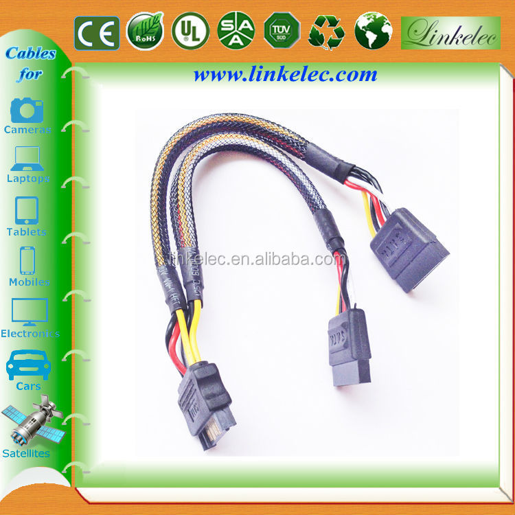 double sata power cable sata hdd splitter cable