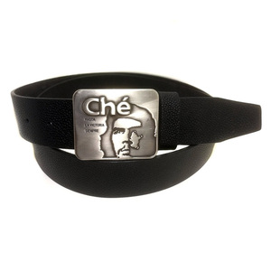 Fashion new style head portrait shape buckle belt good toughness cowhide black handcrafted mens leather belt
