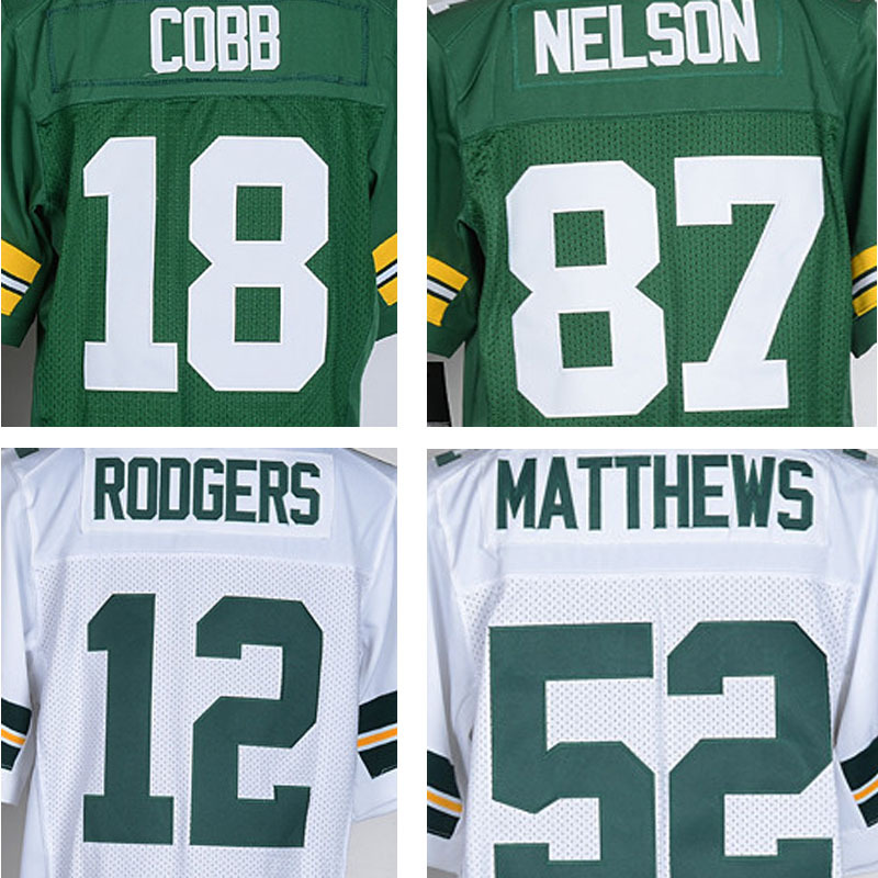 ... Clay Matthews 18 100% Stitiched 12 Aaron Rodgers jersey authentic 27  Eddie Lacy jersey elite 52 New Hot Sale NF Jerseys ... 0643c03c7