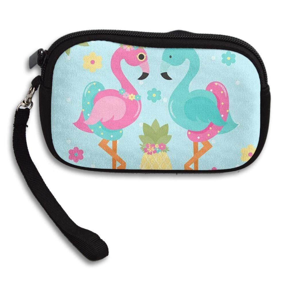 WCVRUT Unisex Clutch Wallet For Woman Ladies -Flamingos Long Purse Bag Men Gentlemen