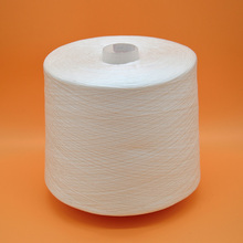 raw whirte bright 40s/2 100% spun polyester yarn on plastic cone