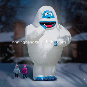 Funny inflatable bumble abominable snow monster for Christmas decoration